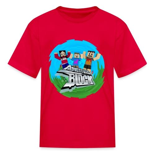 Adventure Block (CRAFTY) - Kids' T-Shirt