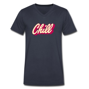 Chill (editable colors) - Men's V-Neck T-Shirt by Canvas