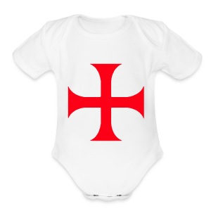 Templar Red Cross  - Short Sleeve Baby Bodysuit