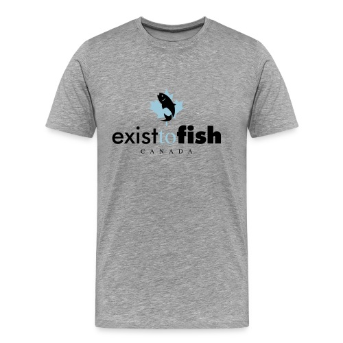 Exist To Fish Premium Men's T Shirt - Men's Premium T-Shirt
