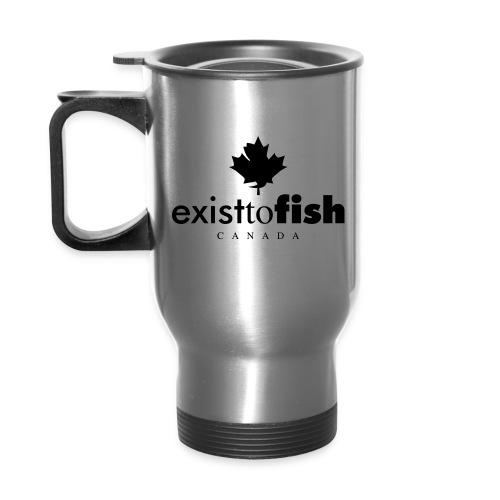 Exist To Fish Aluminum Travel Mug - Travel Mug