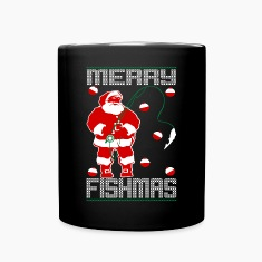Santa Merry Fishmas Mugs & Drinkware