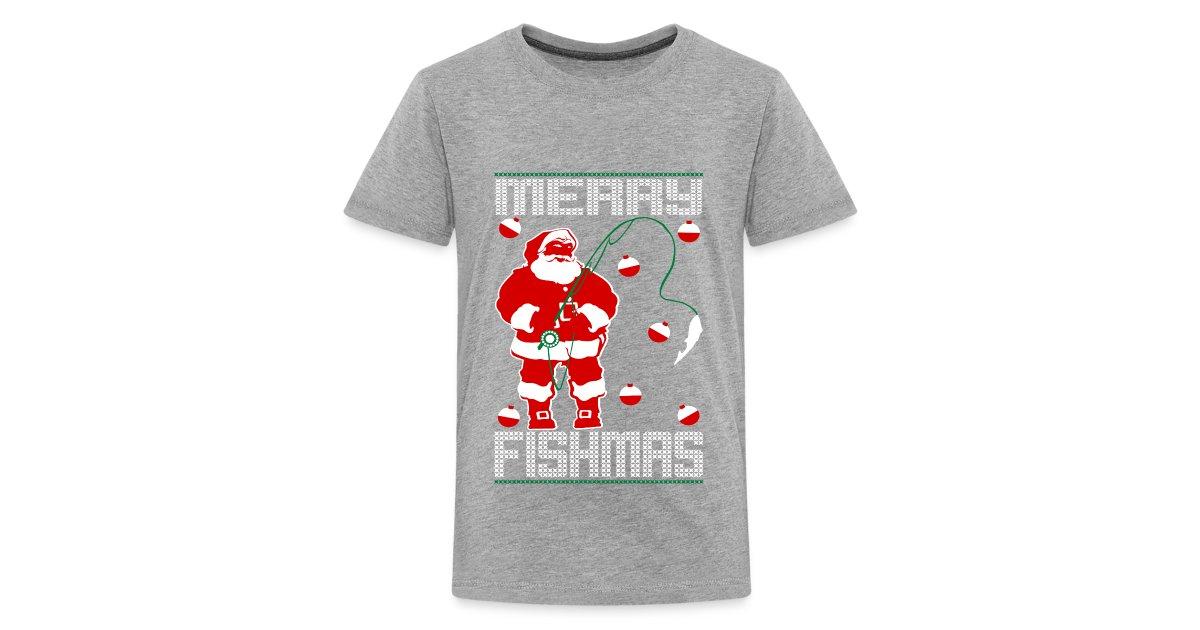 1371e69f Ethos Wear Design and Apparel | Merry Fishmas Santa Kids Premium Tee ...