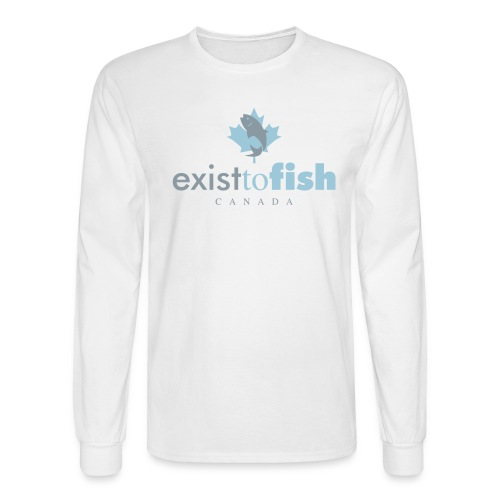 Exist To Fish Premium Men's Long Sleeve Shirt - Men's Long Sleeve T-Shirt
