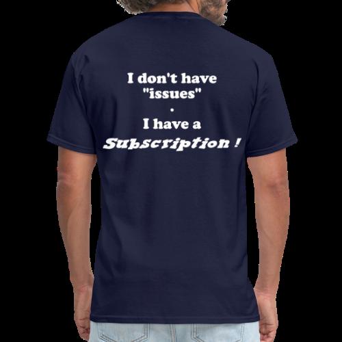 Men's Standard Subscription (Back) - Men's T-Shirt