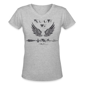 You Give Me Wings V-Neck  - Women's V-Neck T-Shirt