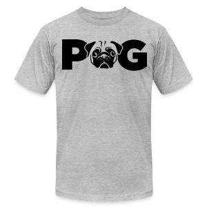 Pug Face - Men's Fine Jersey T-Shirt
