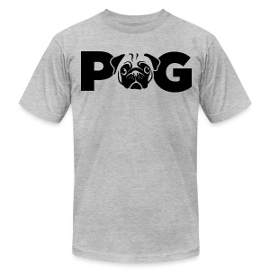 Pug Face - Men's T-Shirt by American Apparel