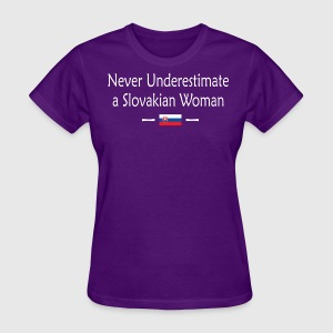 Never Underestimate A Slovakian Woman - Women's T-Shirt