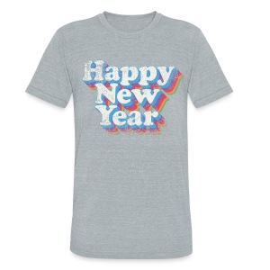Happy New Year Vintage - Unisex Tri-Blend T-Shirt