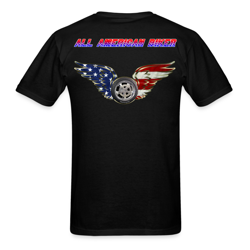 Men's Standard T- All American Biker (Back) - Men's T-Shirt