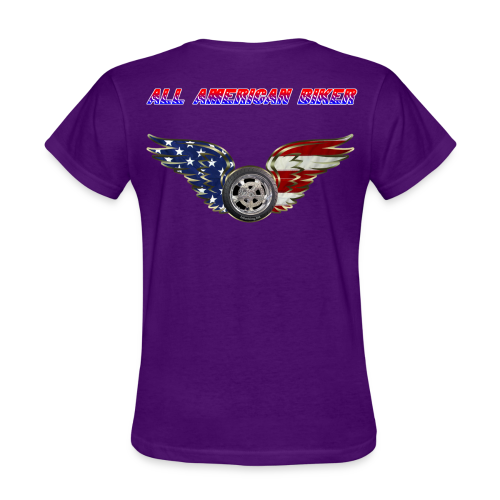 Women's Standard T- All American Biker (Back) - Women's T-Shirt