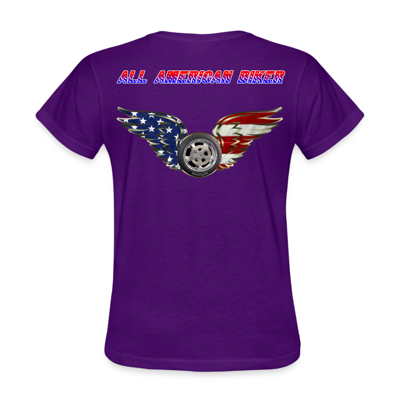 Women's Standard T- All American Biker (Back) - Women's T-Shirt