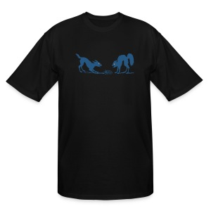 Dog vs Cat Food Fight - Men's Tall T-Shirt