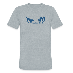Dog vs Cat Food Fight - Unisex Tri-Blend T-Shirt by American Apparel