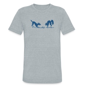 Dog vs Cat Food Fight - Unisex Tri-Blend T-Shirt