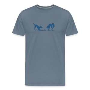 Dog vs Cat Food Fight - Men's Premium T-Shirt