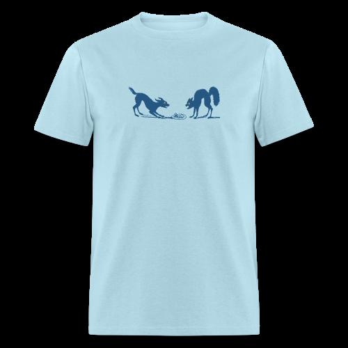 Dog vs Cat Food Fight - Men's T-Shirt