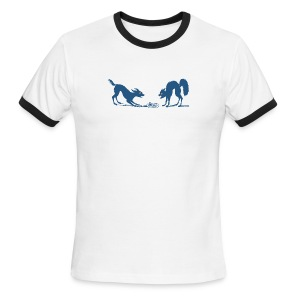 Dog vs Cat Food Fight - Men's Ringer T-Shirt