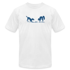 Dog vs Cat Food Fight - Men's Fine Jersey T-Shirt