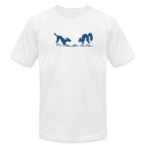 Dog vs Cat Food Fight - Men's T-Shirt by American Apparel