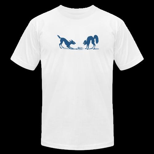 Dog vs Cat Food Fight - Men's  Jersey T-Shirt