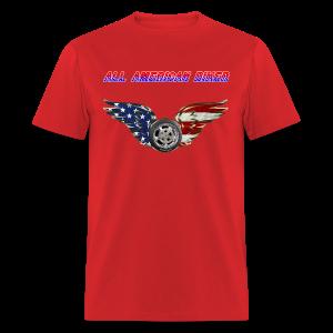 Men's Standard T- All American Biker (Front) - Men's T-Shirt