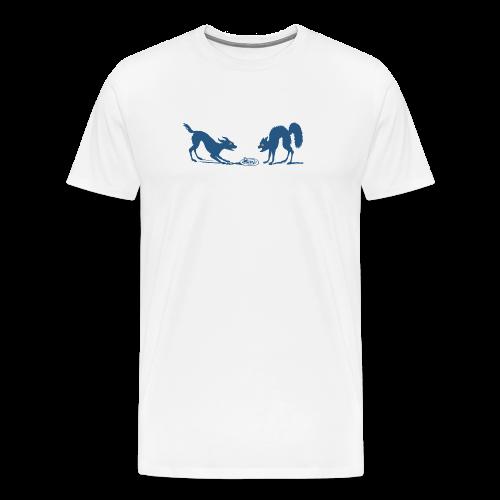 Dog vs Cat Food Fight - Men's Premium T-Shirt