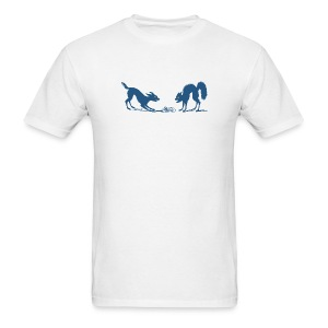 Dog vs Cat Food Fight - Men's T-Shirt