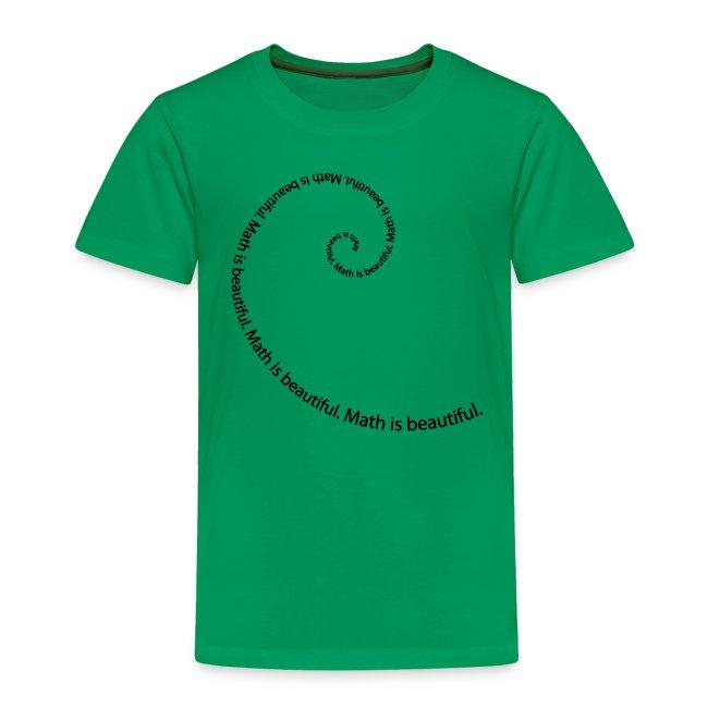 Fibonacci Spiral Toddler Tee