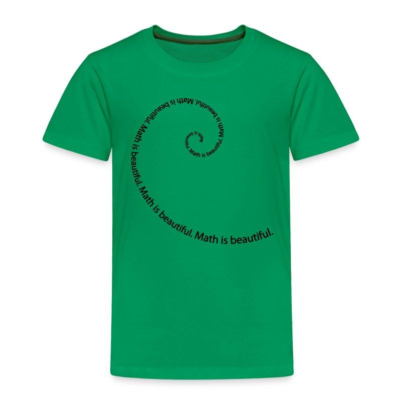 Fibonacci Spiral Toddler Tee - Toddler Premium T-Shirt