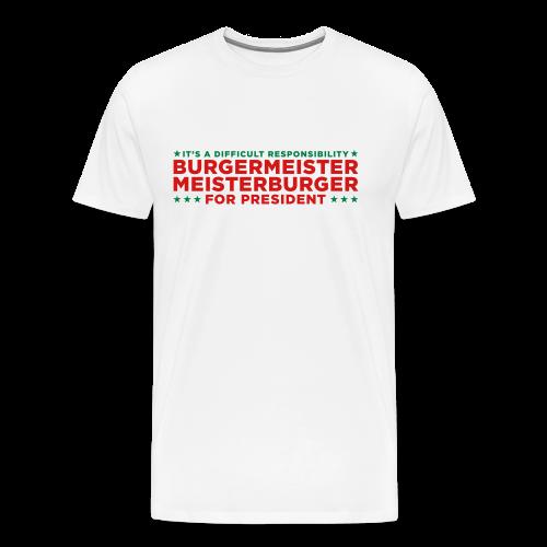 Vote for Burgermeister - Men's Premium T-Shirt