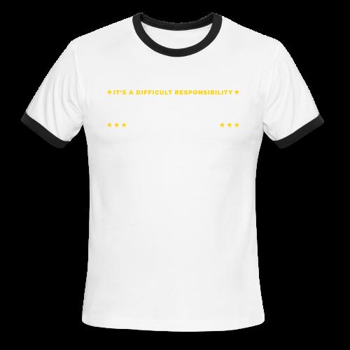 Vote for Burgermeister - Men's Ringer T-Shirt
