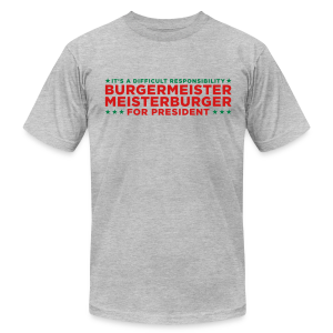 Vote for Burgermeister - Men's Fine Jersey T-Shirt
