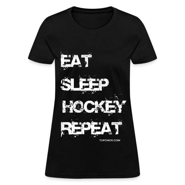 Eat Sleep Hockey Repeat - wb - TC