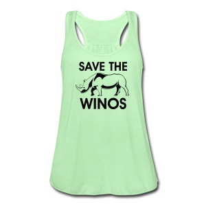 save the winos - Women's Flowy Tank Top by Bella