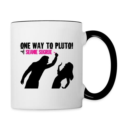 One Way To Pluto! Mug - Contrast Coffee Mug