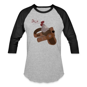 Shut Your Cock Holster Baseball Tee - Baseball T-Shirt