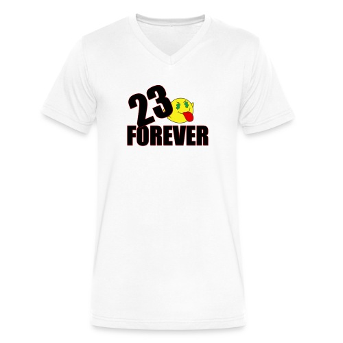 23 forever T-Shirts - Men's V-Neck T-Shirt by Canvas