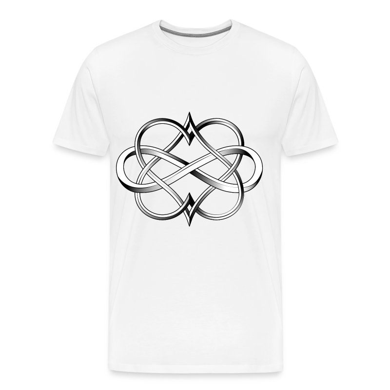double heart infinity tattoo t shirt spreadshirt. Black Bedroom Furniture Sets. Home Design Ideas