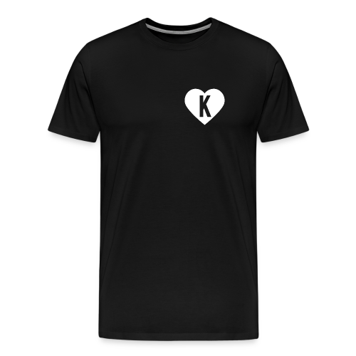 K Heart/LegitKawaii - Men's Tshirt (Black) - Men's Premium T-Shirt