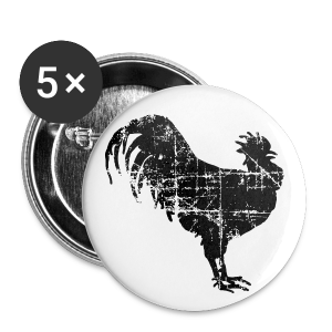 Rooster Buttons 1'' - Small Buttons