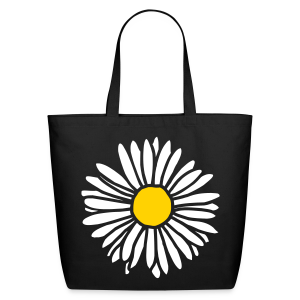 Daisy (bicolor) Eco Friendly Tote Bag - Eco-Friendly Cotton Tote