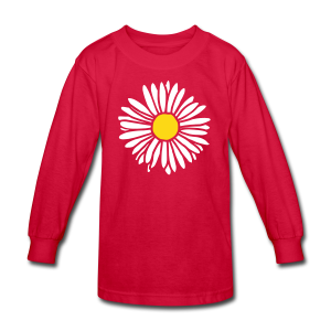 Daisy (bicolor) Kid's Longsleeve - Kids' Long Sleeve T-Shirt