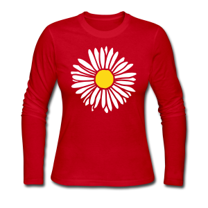 Daisy (bicolor) Longsleeve - Women's Long Sleeve Jersey T-Shirt