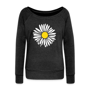 Daisy (bicolor) Sweatshirt - Women's Wideneck Sweatshirt
