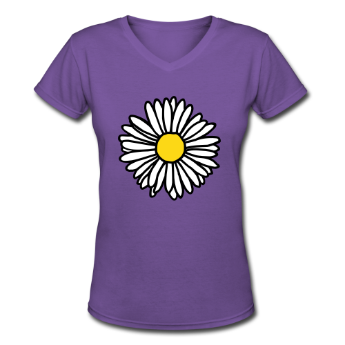 Daisy V-Neck - Women's V-Neck T-Shirt