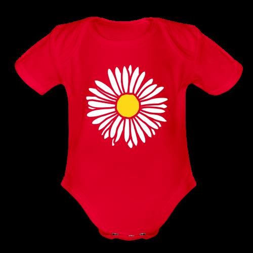 Daisy (bicolor) Baby One Piece - Organic Short Sleeve Baby Bodysuit