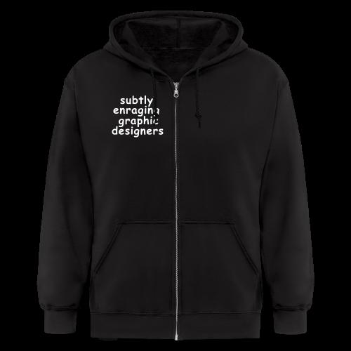 Graphic Design Enrage Zip Hoodies & Jackets - Men's Zip Hoodie