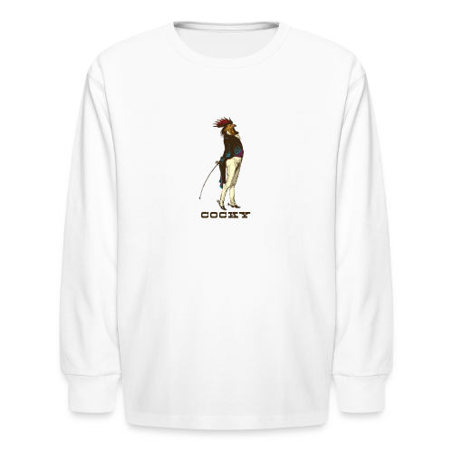 Cocky Chicken Rooster - Kids' Long Sleeve T-Shirt